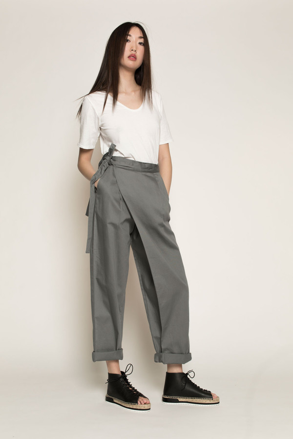 Kowtow Side by Side Pant in Dove Grey