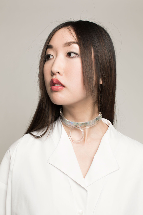 I STILL LOVE YOU NYC Slave 2 Fashion Choker in Clear Halo