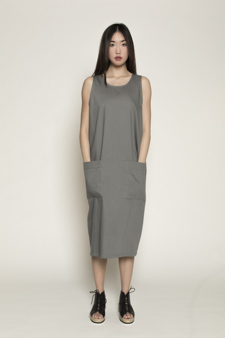 Kowtow Workshop Dress in Dove Grey