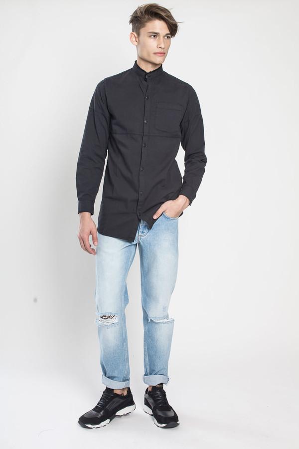 Men's TOURNE DE TRANSMISSION Yamdrok Grandad Shirt in Black