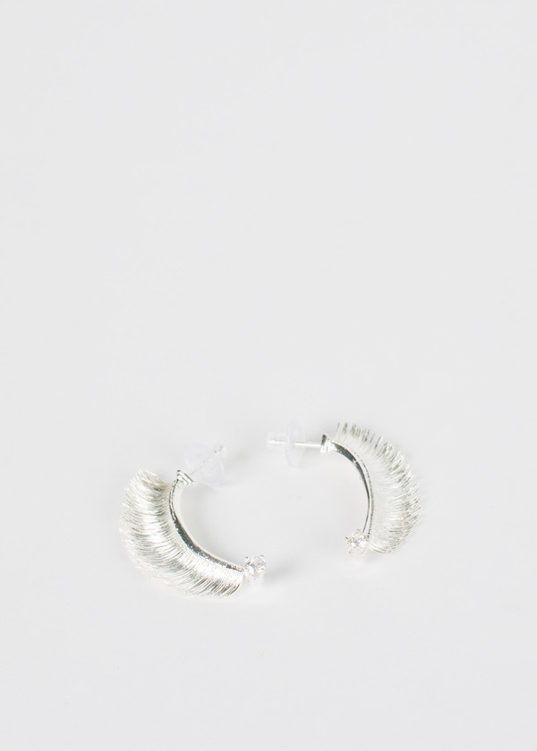 Mirit Weinstock Crowned Eyelash Earrings