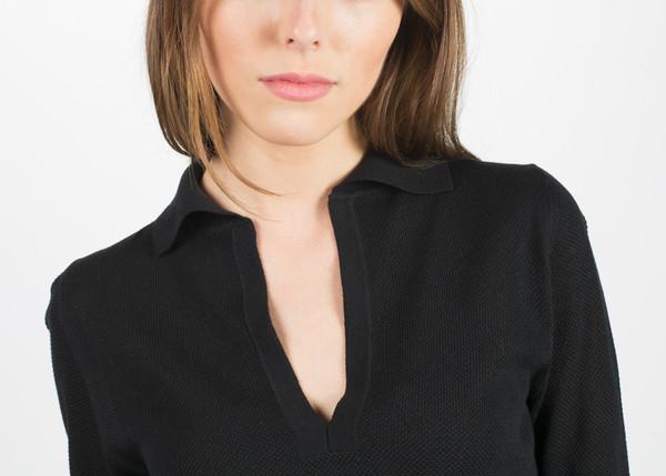 Margaret Howell Open Collar Pique Jumper