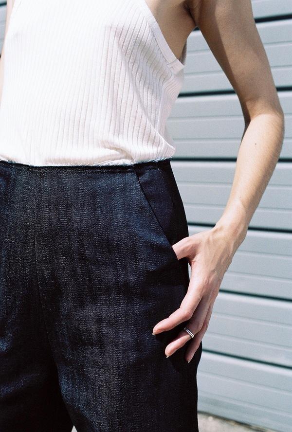 Markoo Denim Wide Leg Trouser - indigo