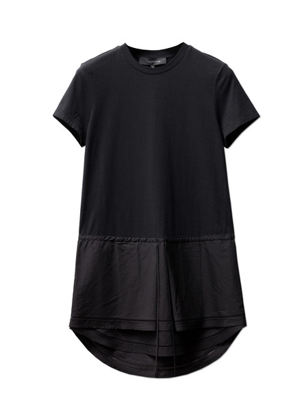 Thakoon Womens Jersey T-Shirt Dress - Black