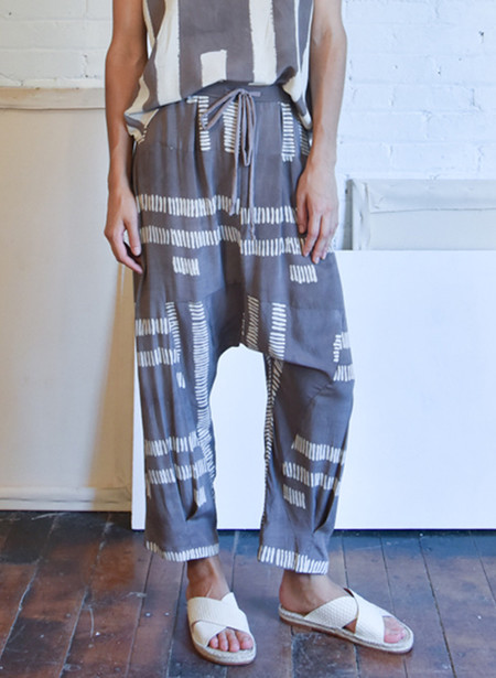 Seek Collective Jaipur Pants, dove dashes print