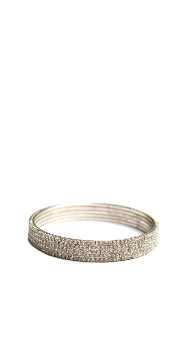 Timeless Treasures 5 Row Rhinestone Bangle