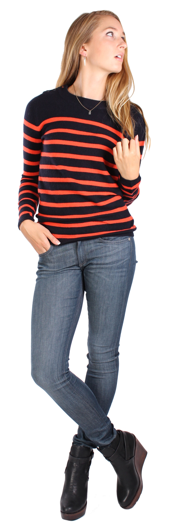 Chinti & Parker Guernsey Stripe Sweater