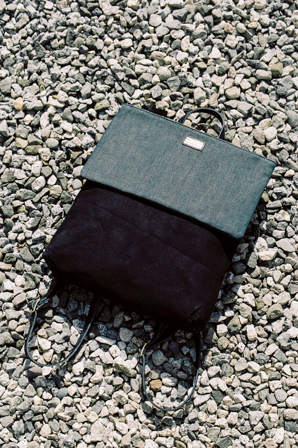 Clare V. Agnes Backpack - denim