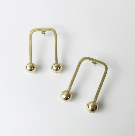 Nandi Naya Zola Earrings - Brass