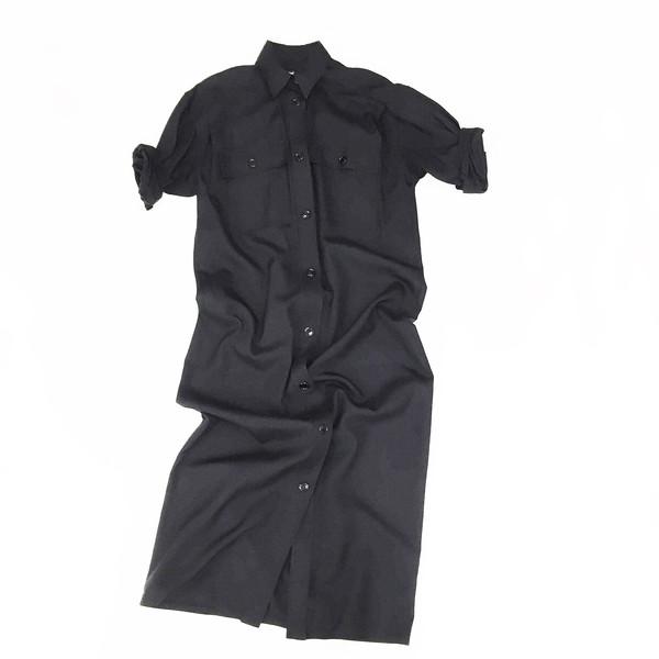Johan Vintage Black Shirt Dress
