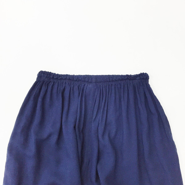Johan Vintage Navy Cropped Easy Pant