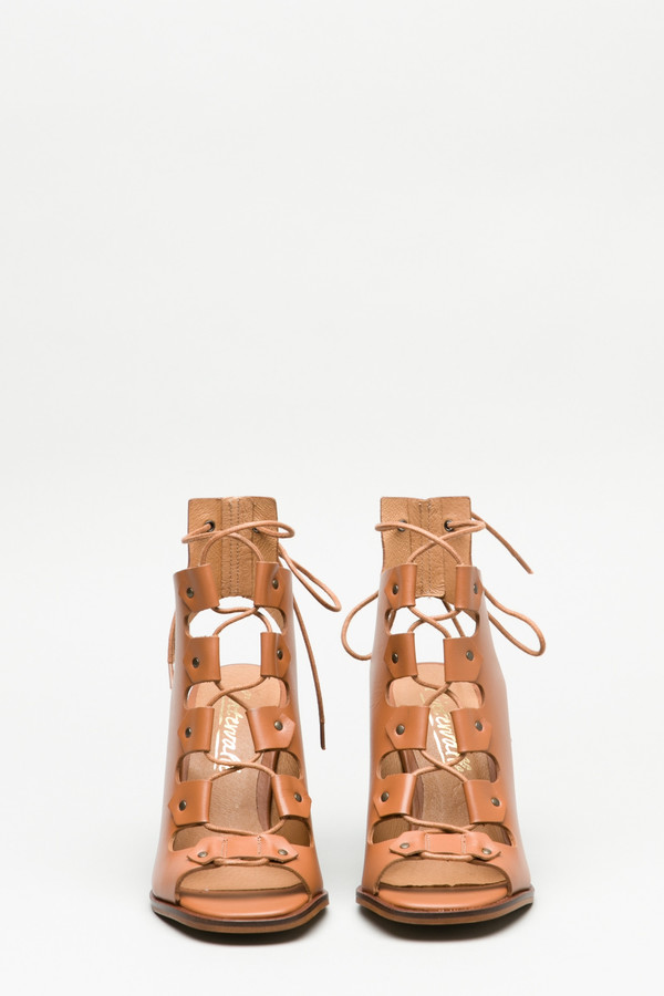 L'Intervalle Benjiro Sandals -Tan Leather