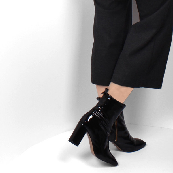 L'Intervalle Nerina Boots (Black Leather)