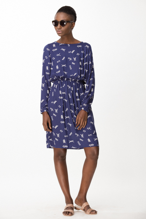 Osei-Duro Aburi Dress in Cobalt Jot