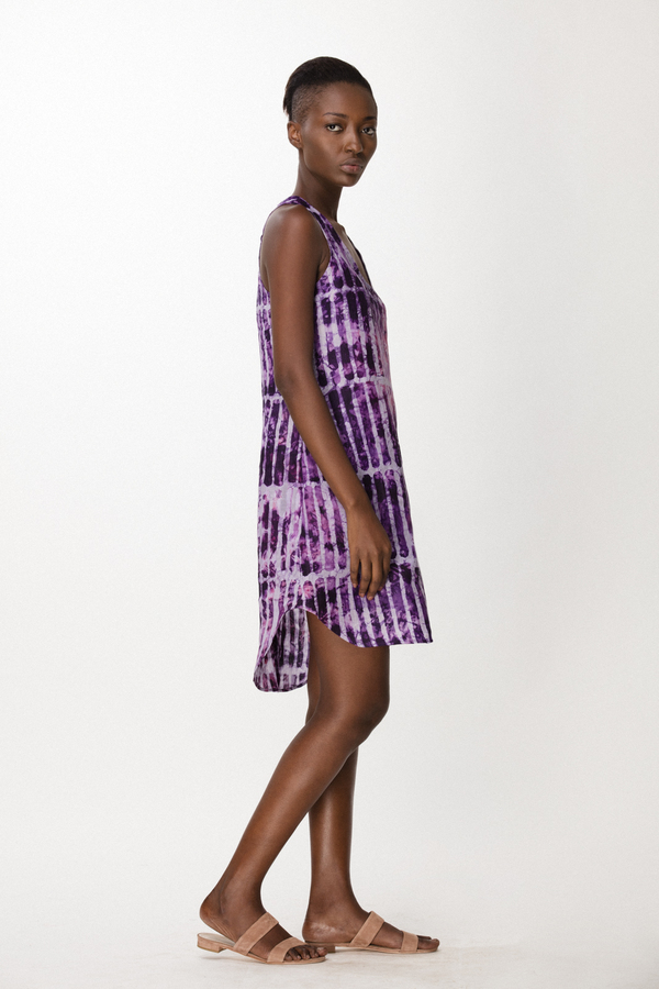 Osei-Duro Runa Dress in Fuchsia Chalk