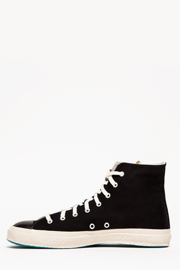 Shoes Like Pottery High Top Canvas Sneaker - Black