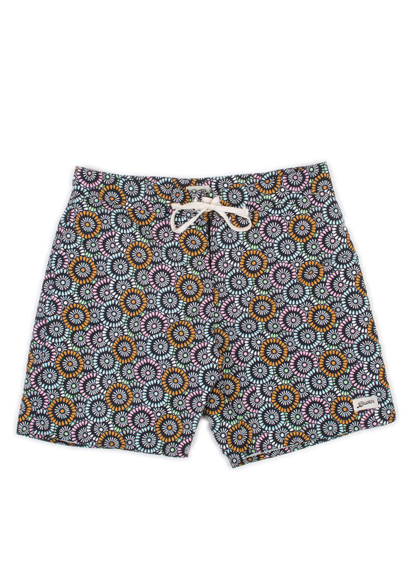 Men's Bather Multi Flower Surf Trunk