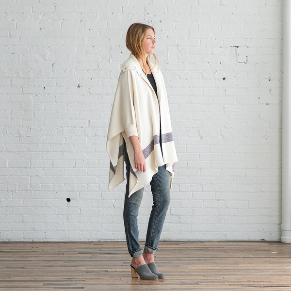 Apiece Apart Esperanza Neck Knit Poncho - SOLD OUT