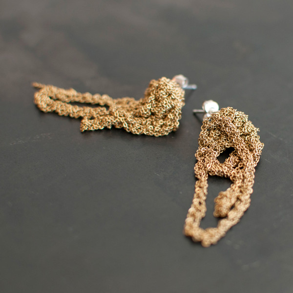 Arielle De Pinto Drip Earrings Gold Gradient - SOLD OUT