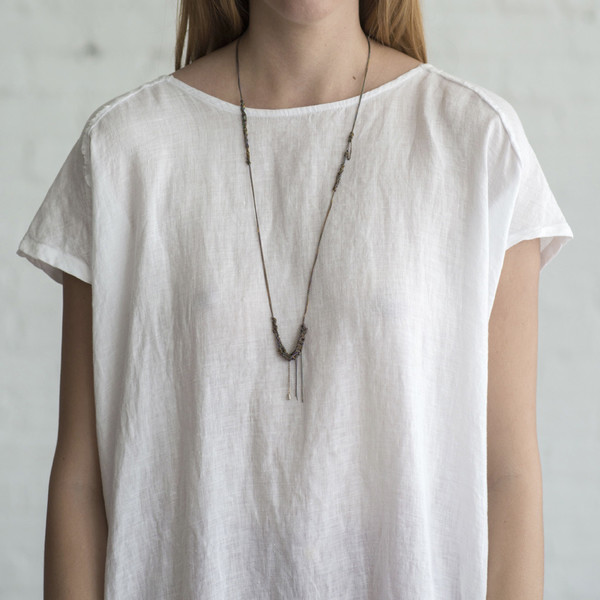 Arielle De Pinto Spaced Bare Chain Necklace