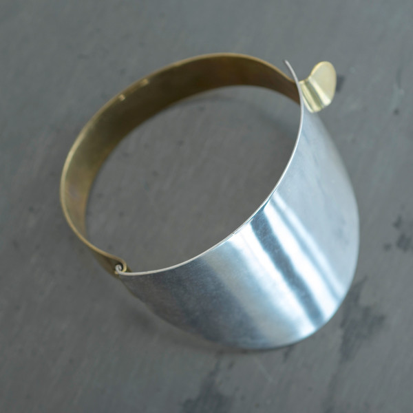 Erin Considine Ellipse Cuff Brass with SIlver