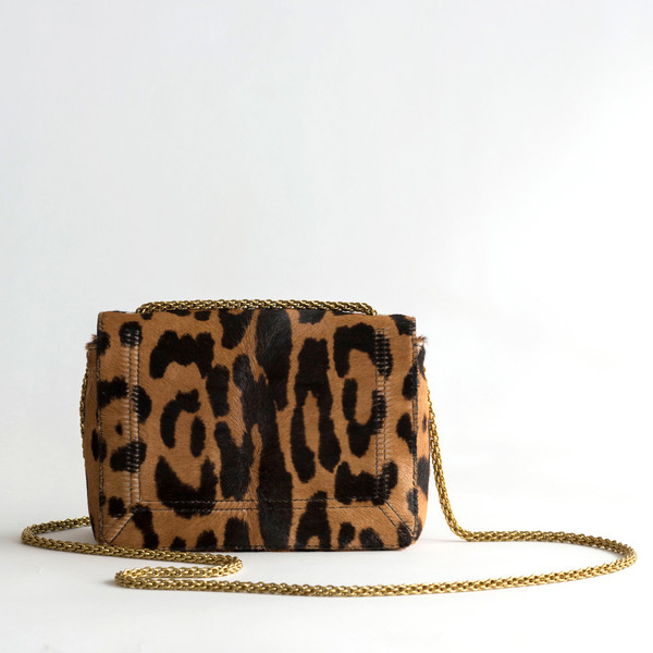 Jerome Dreyfuss Eliot Leopard Pony Calfskin - SOLD OUT