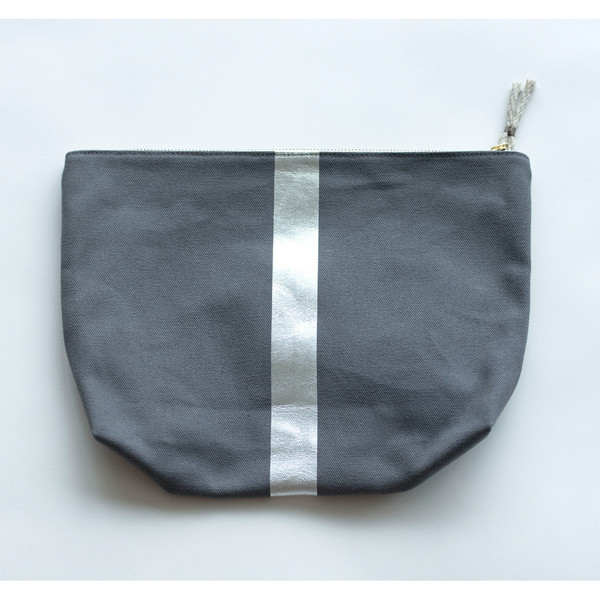 Kempton & Co Metallic Stripe Beach Pouch - SOLD OUT