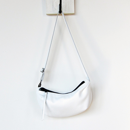 Shosh leather fanny pack - white