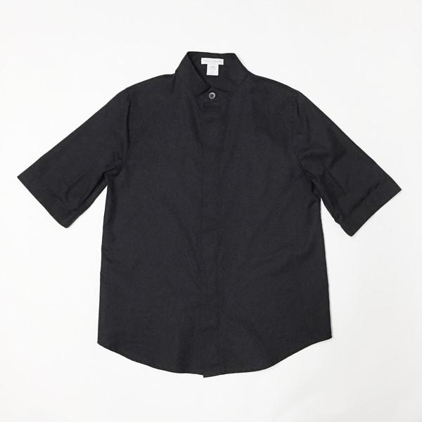 Shelby Steiner Black Mandarin Collar Shirt
