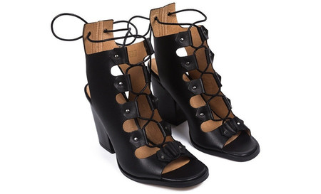L'Intervalle Benjiro Sandals (Black Leather)