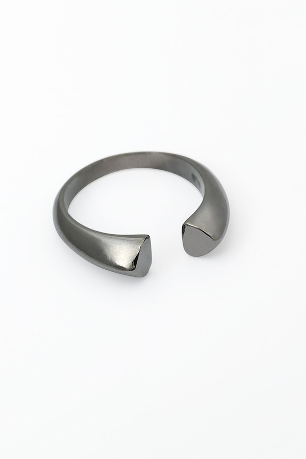 Slight Jewelry Adjustable Size Ring in Black Platinum