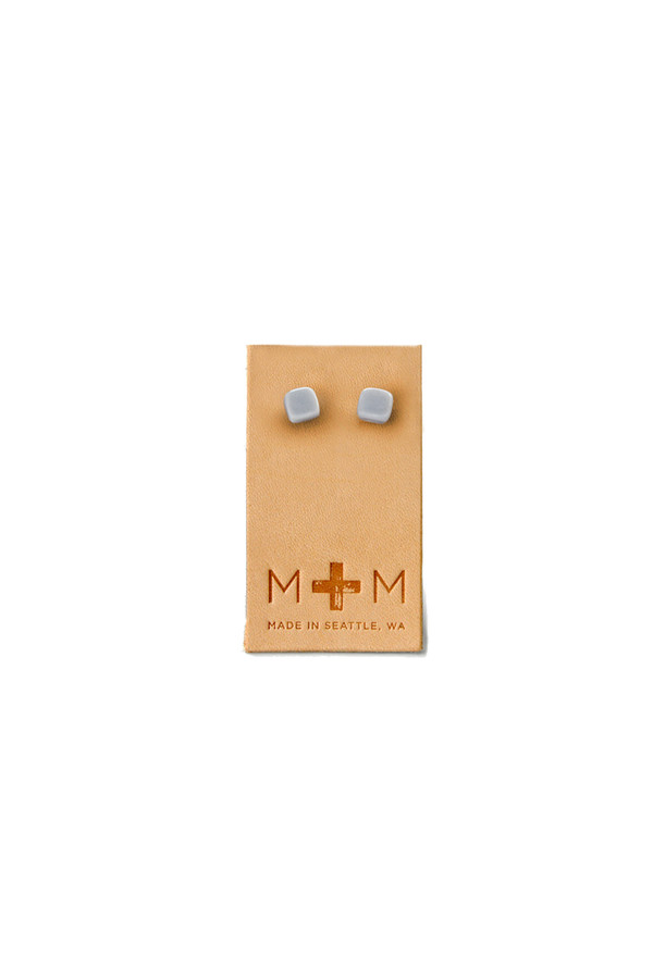 Maple & Mauve Ceramic Cube Studs