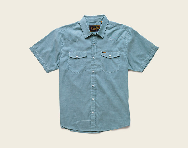 Howler Brothers - Snapshirt Oxford Steel Blue