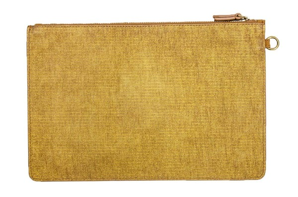 Jerome Dreyfuss Large Popoche  Gold Suede