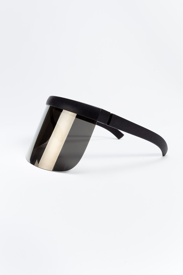 MYKITA DAISUKE Sun Visor Black/Gold Flash Shield