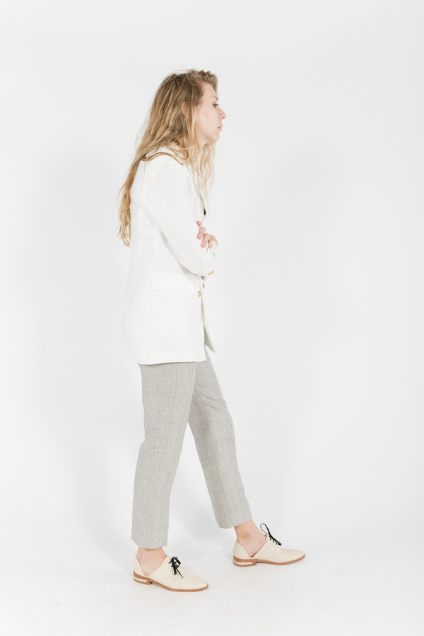 Band of Outsiders Linen Ankle Pants