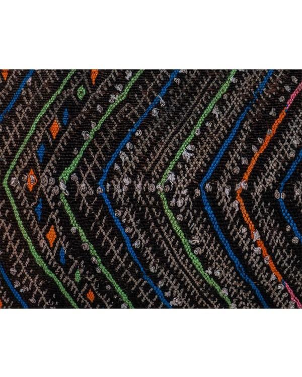 Vintage Chevron Stripe Moroccan Kilim Pillow