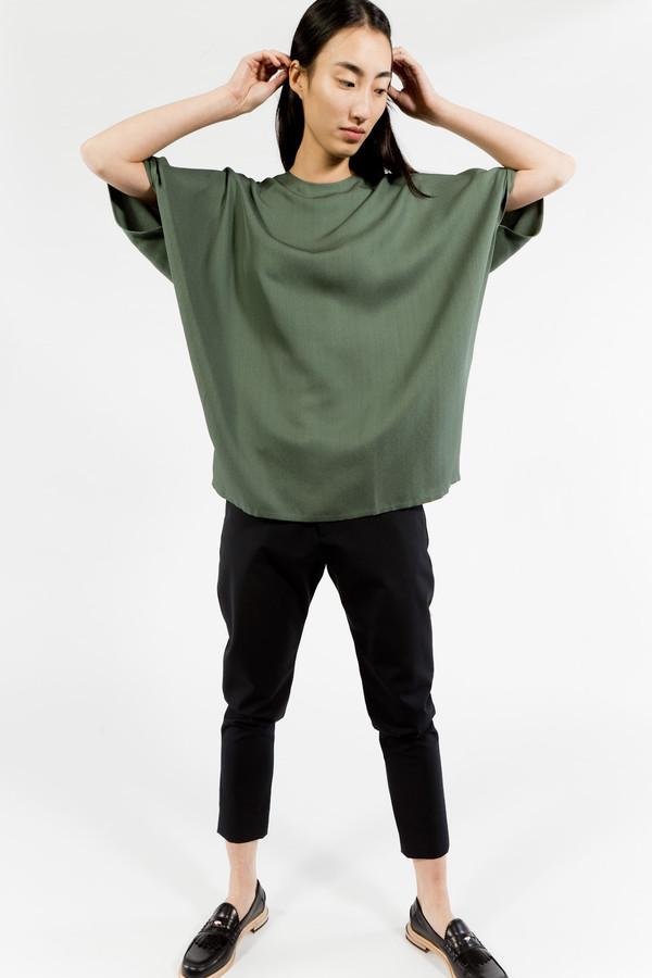 KAAREM Round Neck Silk Top