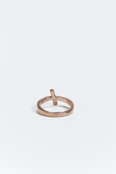 Young Frankk Slash Ring Rose Gold