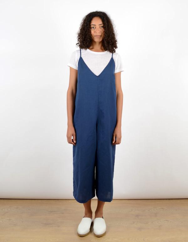 Ali Golden Wide-Leg Jumper Blue