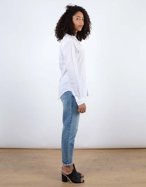 Assembly Label Linen Long Sleeve Shirt White