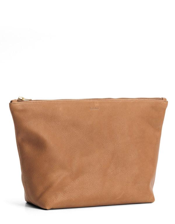 Baggu Large Stash Clutch Saddle