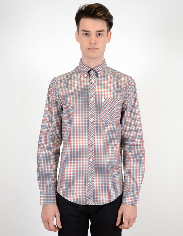 Ben Sherman Classic Tartan Shirt Fire Orange
