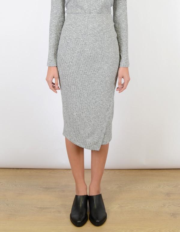 Just Female Picnic Skirt Snow Melange