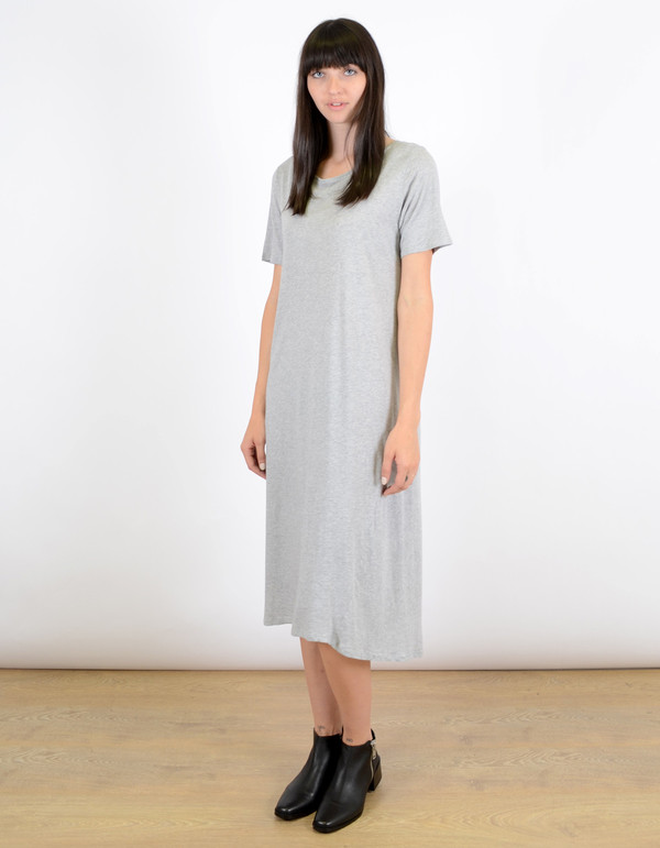 Kowtow Building Block T-Shirt Dress Grey Marle