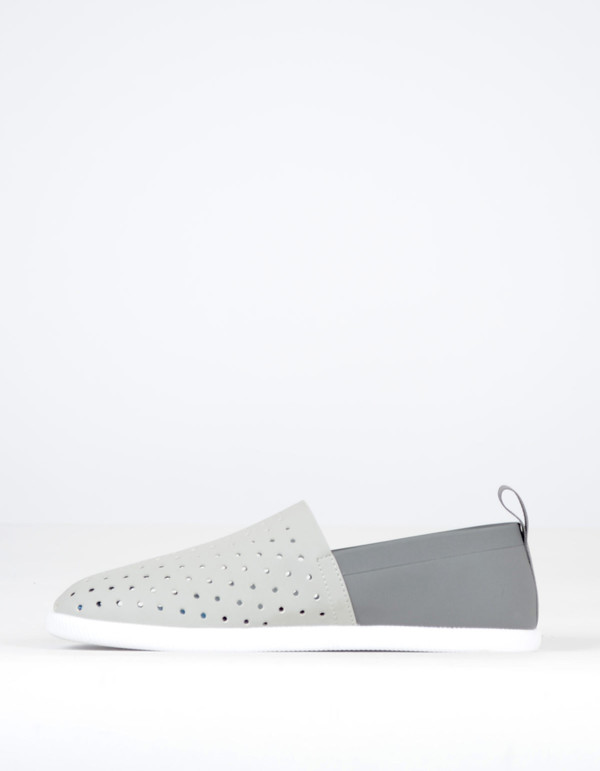 Native Shoes Native Venice Pigeon Grey with Dublin Grey and Shell White