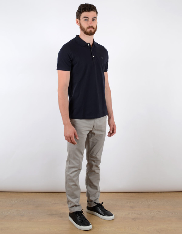 Men's No Nationality Pima Pique Solid Polo Navy