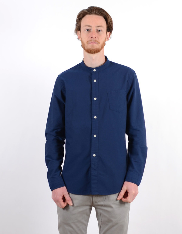 Men's No Nationality Samuel Banded Oxford Shirt Blue
