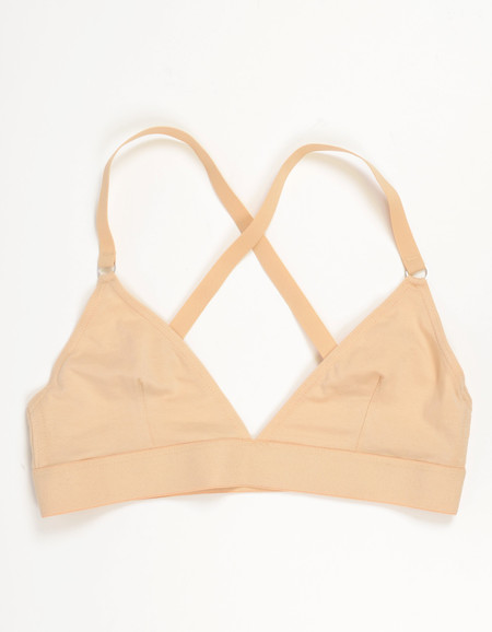Nude Label Triangle Cross-Back Bra Nude