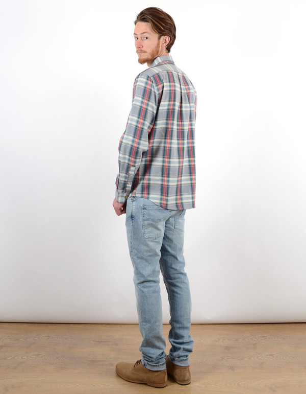 Men's Portuguese Flannel Alquieve Shirt Grey